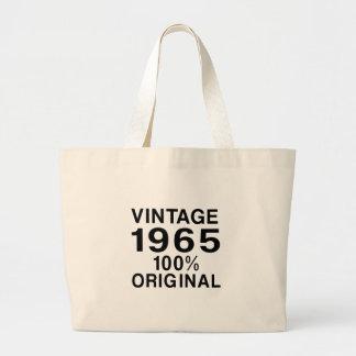 Vintage 1965 large tote bag