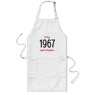 Vintage 1967 Aged To Perfection 60 Birthday Party Long Apron