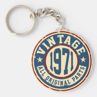 Vintage 1971 All Original Parts Key Ring
