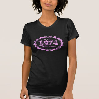 Vintage 1974 Aged to perfection pink label t shirt