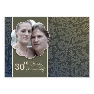 vintage 30th wedding anniversary photo card