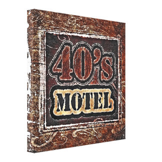 Vintage 40's Motel - Wrapped Canvas