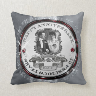Vintage 40th Anniversary ID195 Throw Pillow