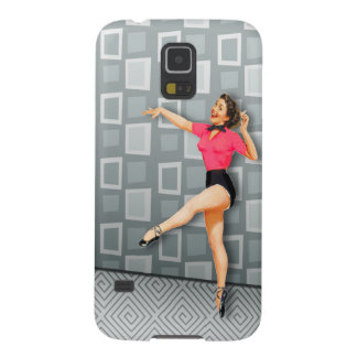 Vintage 50s Dancing Pinup Girl Retro Midcentury Ad Cases For Galaxy S5