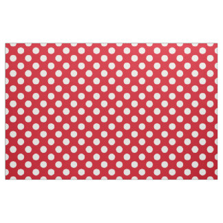 Vintage 50's Style Red and White Polka Dot Pattern Fabric