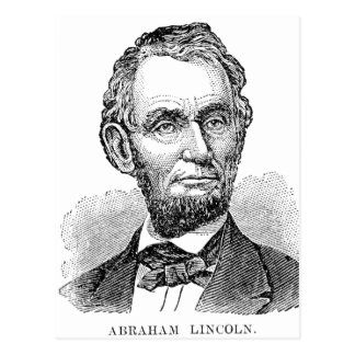 Vintage Abe Lincoln Bust Postcard