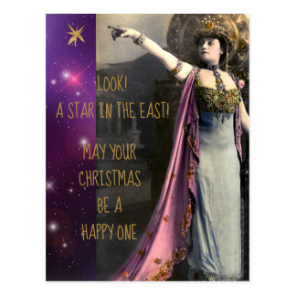 Vintage Actress Star in the East Christmas Postcard