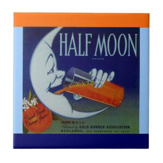 Vintage Ads ad Half Moon Orange Crate Label Tile