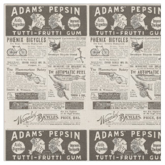 Vintage Ads from 1895 Fabric