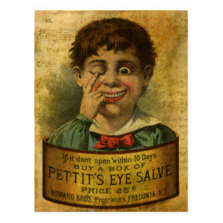 Vintage Advertisement - Eye Salve Postcard