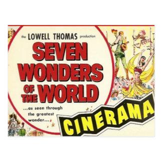 Vintage advertising, Film; Seven Wonders Postcard