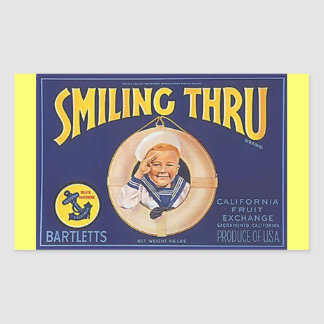 Vintage Advertising LifeRing Lil Sailor Salutes Rectangular Sticker
