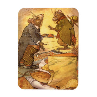 Vintage Aesop's Fable, Country Mouse, City Mouse Magnet