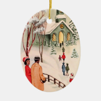 Vintage African American Christmas Ornament