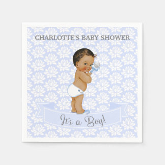 Vintage African American Latino Ethnic Baby Boy Disposable Napkins