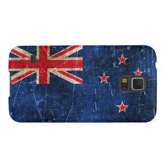 Vintage Aged and Scratched Flag of New Zealand Galaxy S5 Cover