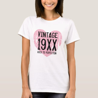 Vintage Aged to perfection womens Birthday t shirt