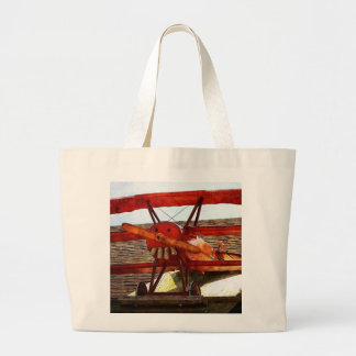 Vintage Airplane by Shirley Taylor Large Tote Bag