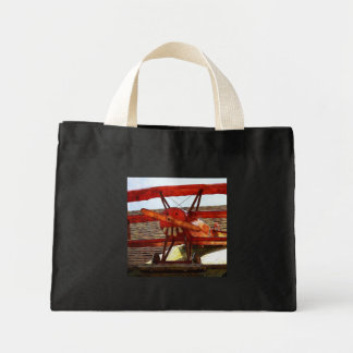 Vintage Airplane by Shirley Taylor Mini Tote Bag