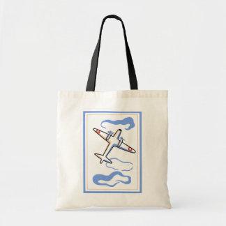 Vintage Airplane Print Tote Bags