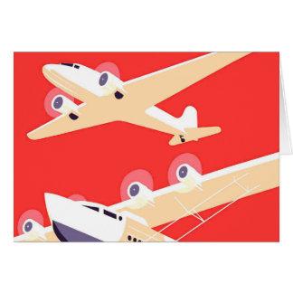 Vintage airplanes card