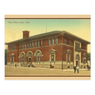 Vintage Akron Ohio Post Office Postcard