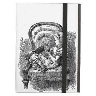Vintage Alice in Wonderland book drawing emo goth iPad Air Cover