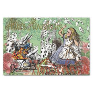 Vintage Alice in Wonderland Cards Tea party Tissue Paper