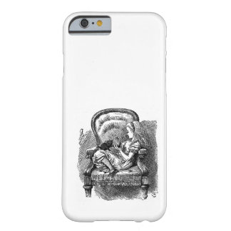 Vintage Alice in Wonderland in chair book drawing Barely There iPhone 6 Case