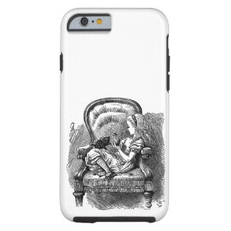 Vintage Alice in Wonderland in chair book drawing Tough iPhone 6 Case