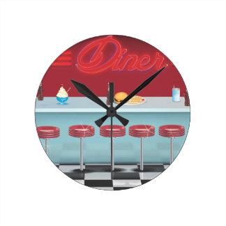 Vintage All American Diner Clock