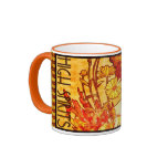 Vintage Alphons Mucha Coffee Mug-High Spirits Ringer Mug