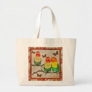 Vintage Amber Butterflies & Love Birds Bag