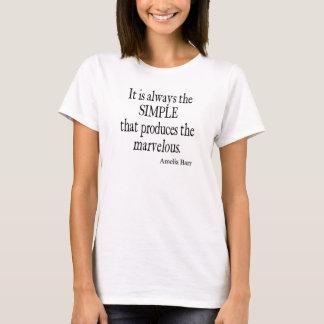 Vintage Amelia Barr Simple Produce Marvelous Quote T-Shirt