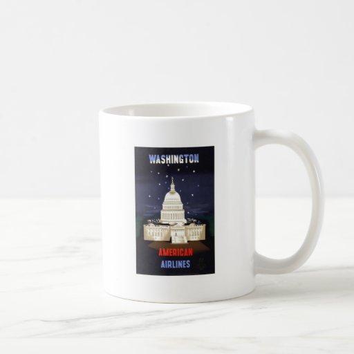 Vintage American Airlines Washington Coffee Mugs