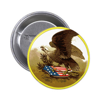 Vintage American Eagle Buttion Pin