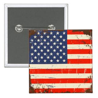 Vintage American Flag 15 Cm Square Badge