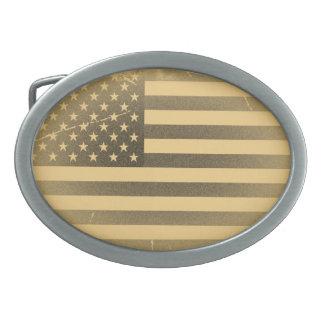Vintage American Flag Oval Belt Buckle