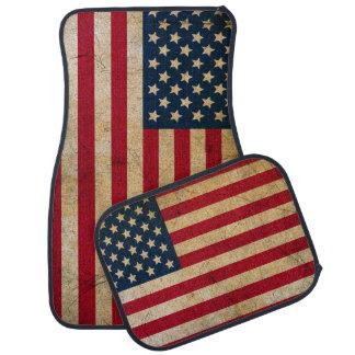Vintage American Flag Car Floor Mat
