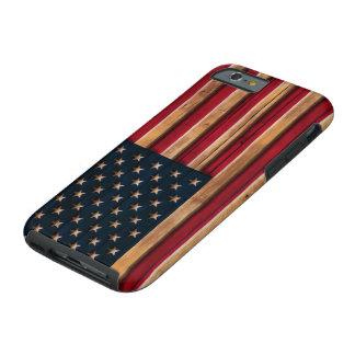 Vintage American Flag Distressed Wood Look iPhone 6 Case