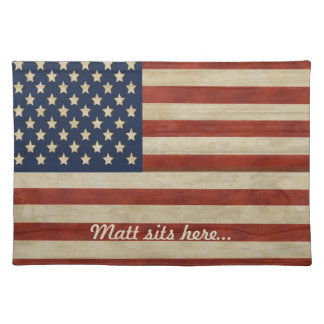 Vintage American Flag GIFTS Placemat