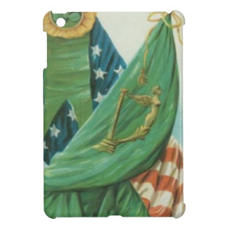 Vintage American Flag Harp of Erin St Patrick's Cover For The iPad Mini