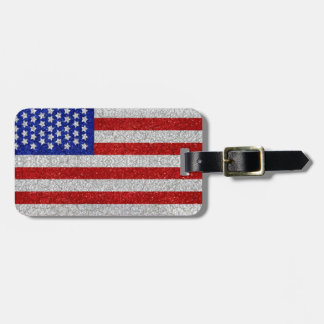 Vintage American Flag Luggage Tag