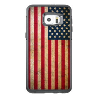 Vintage American Flag OtterBox Samsung Galaxy S6 Edge Plus Case