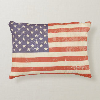 Vintage American Flag - Pillow Accent Cushion