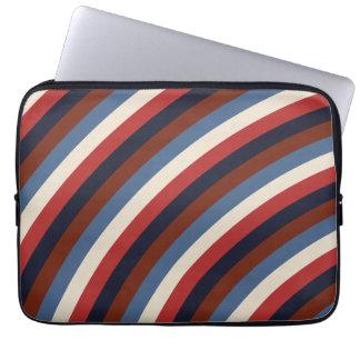 Vintage American Flag Stripes Computer Sleeves