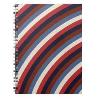 Vintage American Flag Stripes Notebook