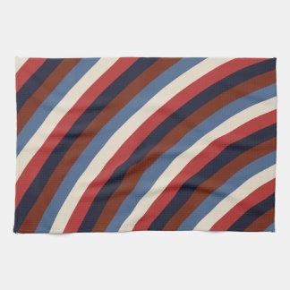 Vintage American Flag Stripes Towel