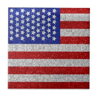 Vintage American Flag tile
