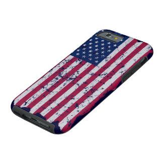 Vintage American Flag Tough iPhone 6 Case
